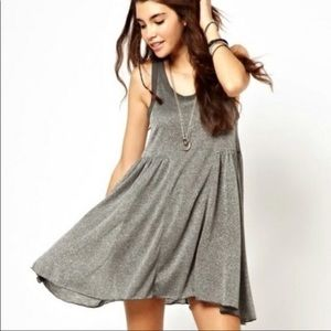 Free People Silver Shimmer Dress
